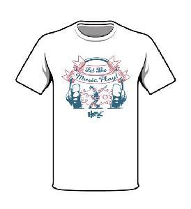 Bringmann&Kopetzki Let The Music Play! T-Shirt weiß