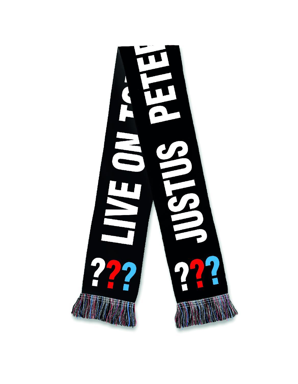 DDF Die Drei Fragezeichen Fanschal 2019 Schal, schwarz-blau-rot-weiß