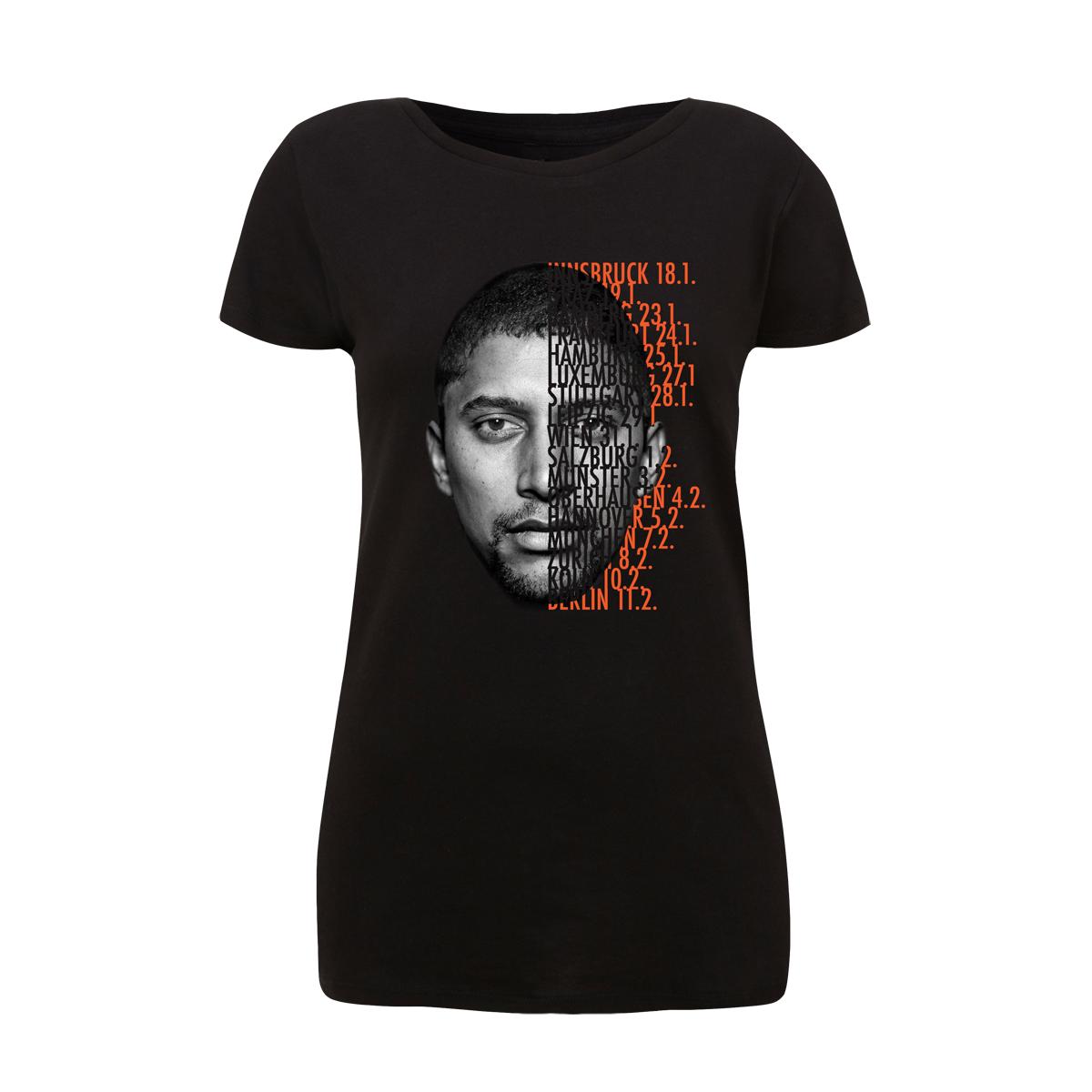 Andreas Bourani Tour 2016 Shirt Damen Girlie, schwarz