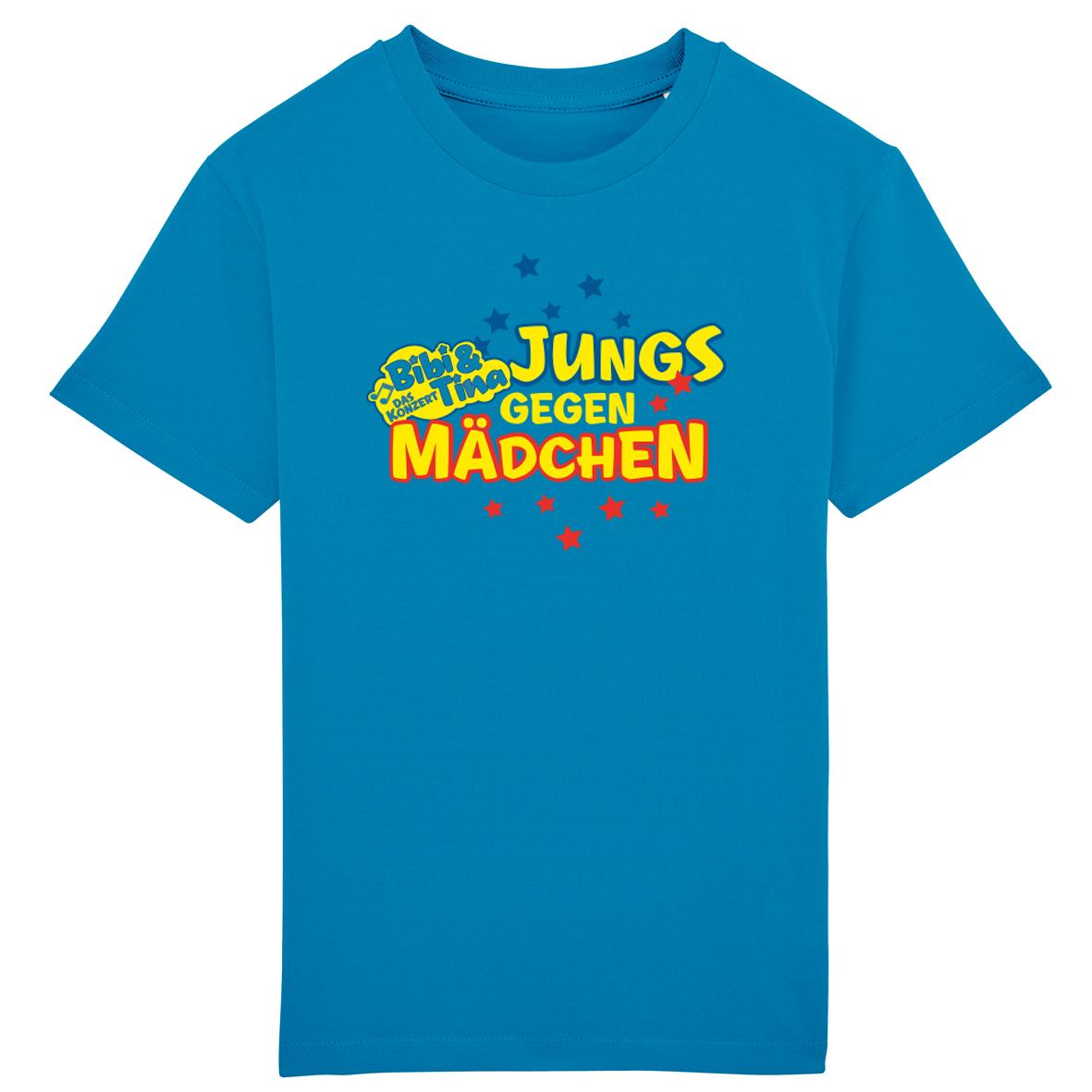 Bibi&Tina Jungs gegen Mädchen Shirt Kinder T-Shirt, azur