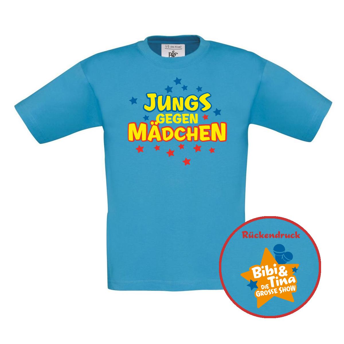 Bibi&Tina Jungs gegen Mädchen Kids Shirt Kids, türkis