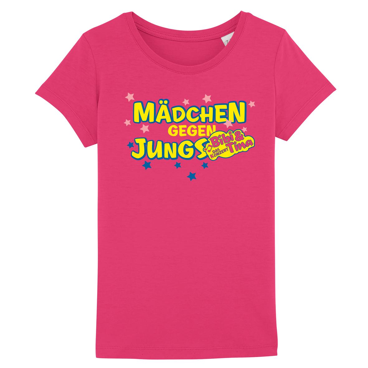 Bibi&Tina Mädchen gegen Jungs Shirt Kids T-Shirt, pink/raspberry
