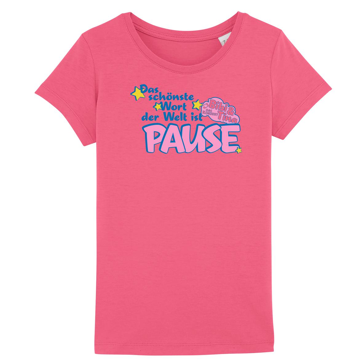 Bibi&Tina Pause Shirt Kinder T-Shirt, Himbeer-pink