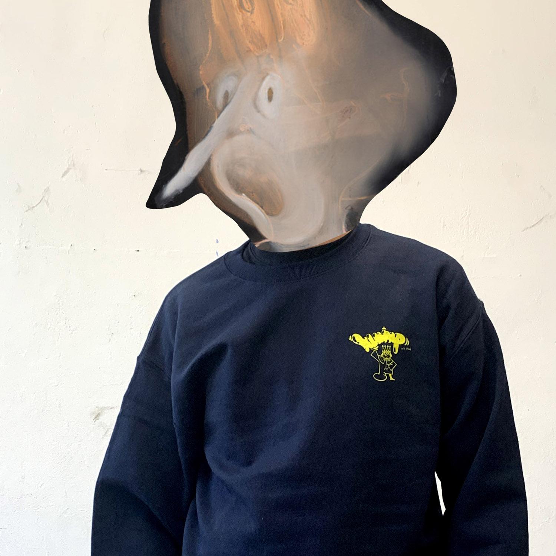 Christian Hoosen Klump Sweater, Navy