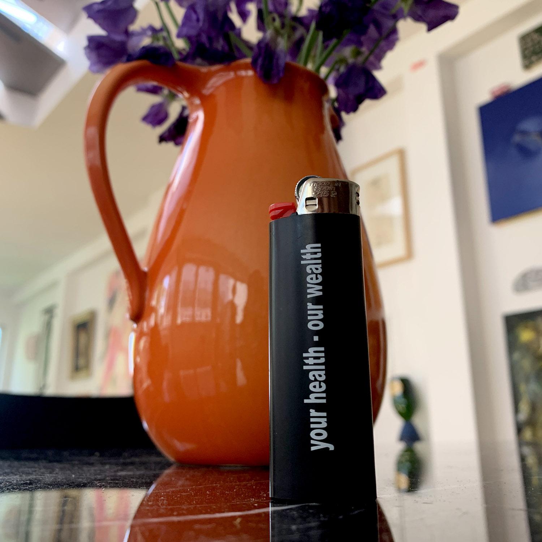 Christian Hoosen Pharma International Lighter, Black