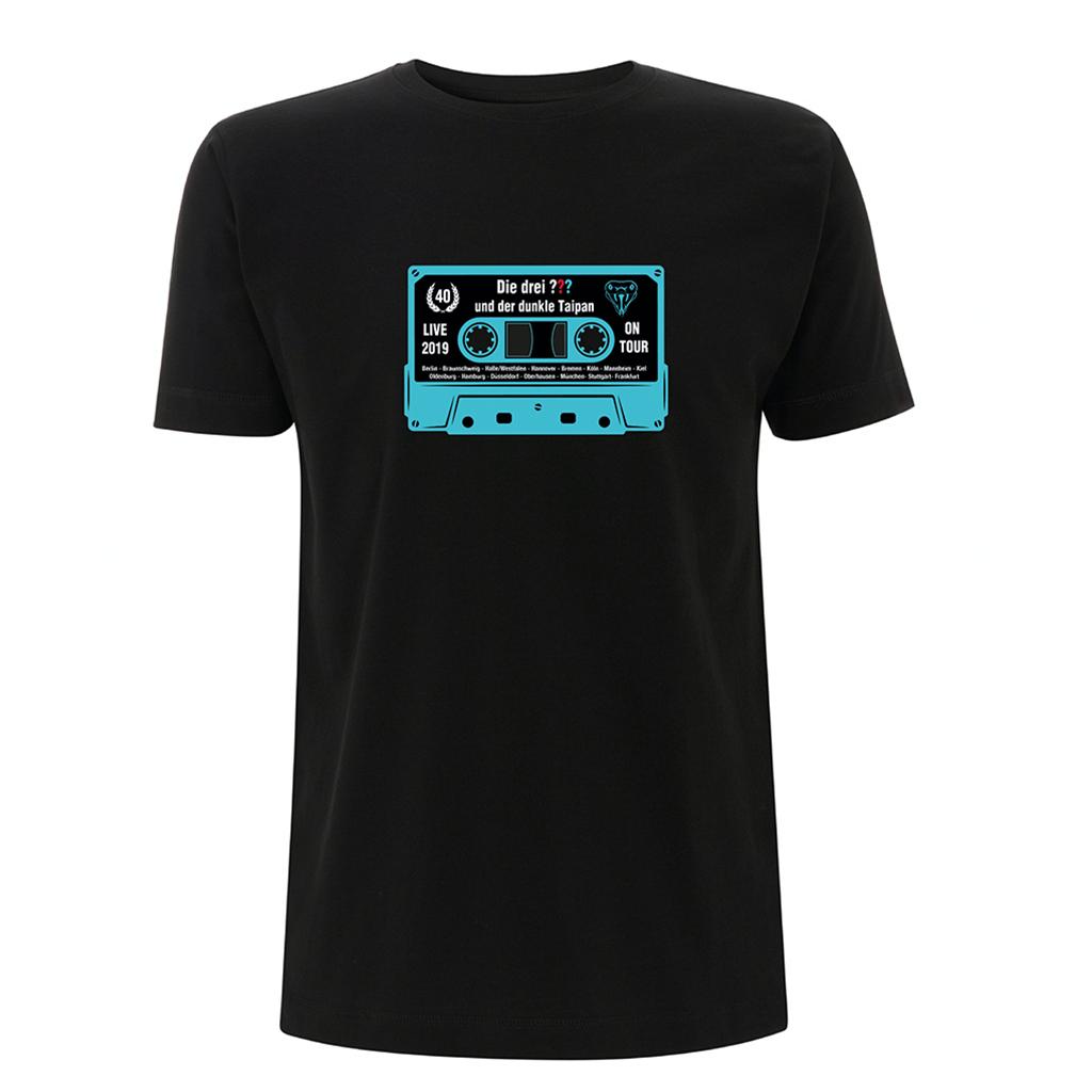 DDF Die drei ??? Kassette Shirt 2019 Herren T-Shirt, schwarz