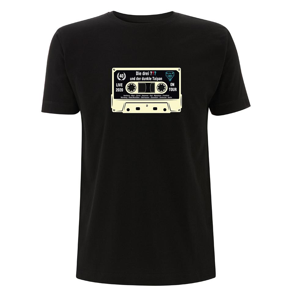 DDF Die drei ??? Kassette Shirt 2020 Herren T-Shirt, schwarz