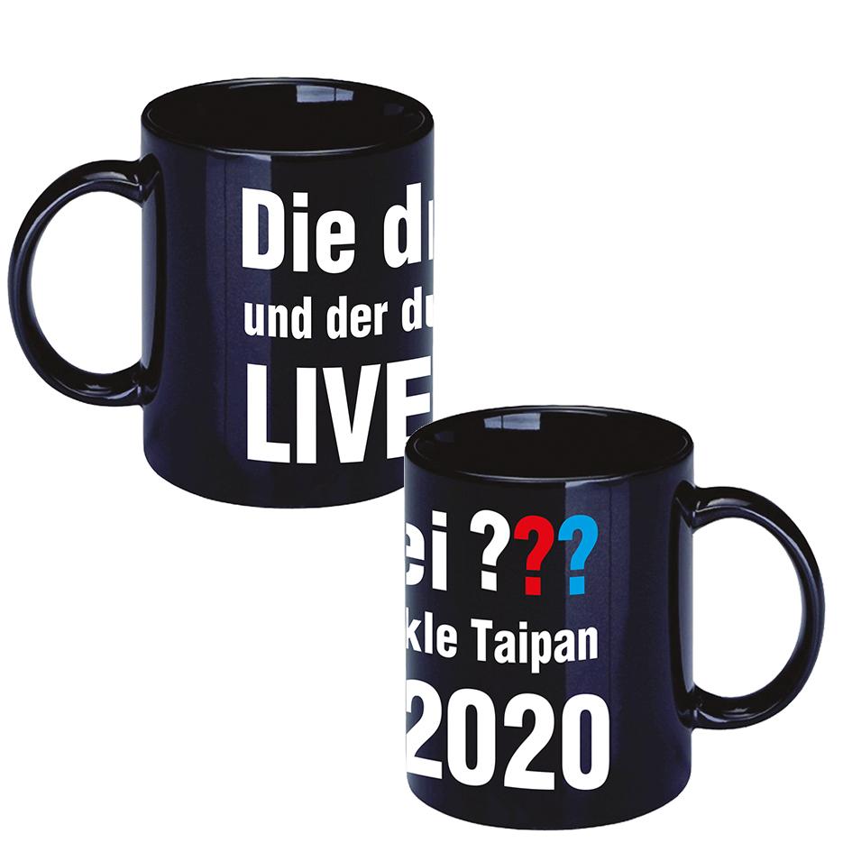 DDF Die drei ??? LIVE 2020 Tasse Cup, schwarz