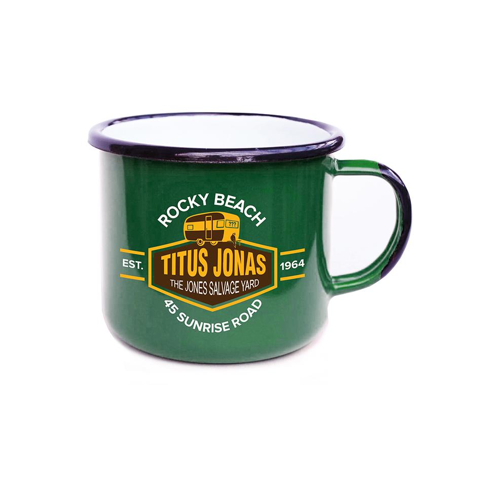 DDF Junkyard Emaille Tasse Cup grün