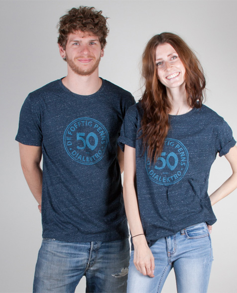 De fofftig Penns 50 Penns T-Shirt dark heather denim