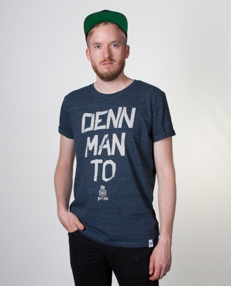 De fofftig Penns Denn Man To T-Shirt dark heather denim