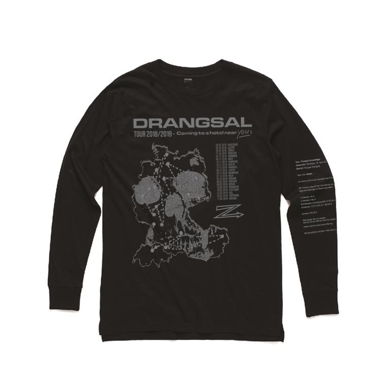 Drangsal Ltd. Hotel Longsleeve - SOLD OUT Longsleeve, Silver/Black