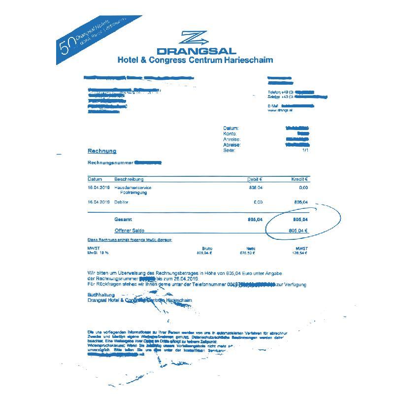 Drangsal Ltd. Hotel Longsleeve - SOLD OUT Longsleeve Blue/White