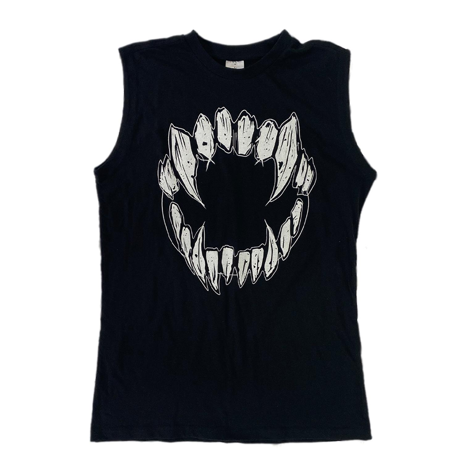 GHOSTKID Ghøstkid - Teeth Sleeveless Shirt Shirt black
