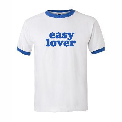 Kommerz mit Herz Easy Lover Blau Shirt White