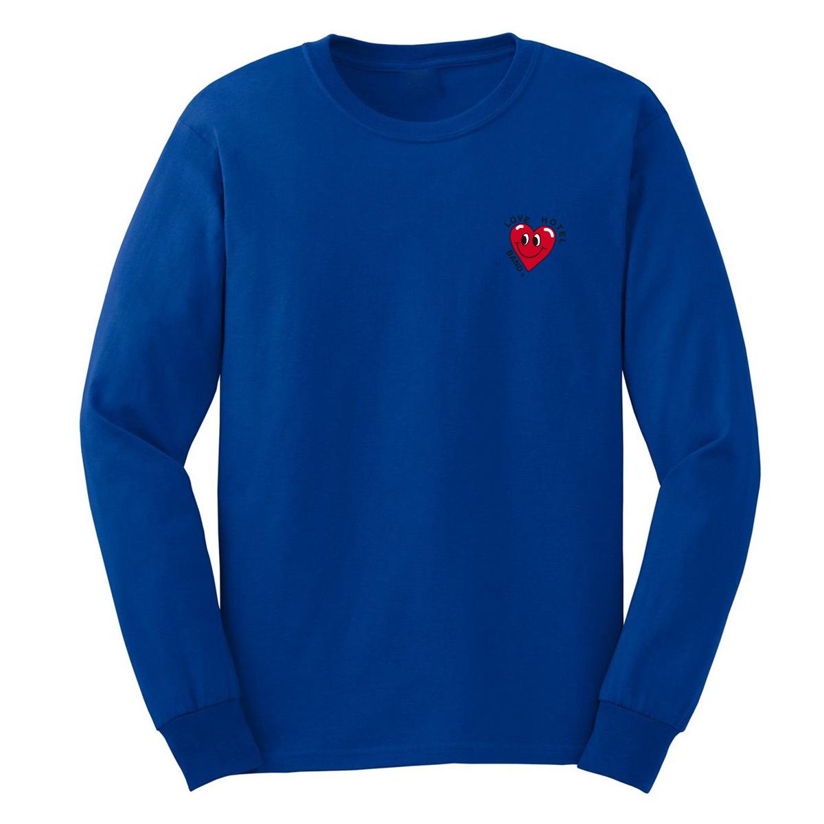 Love Hotel Band Herz Longsleeve Longsleeve, Blue