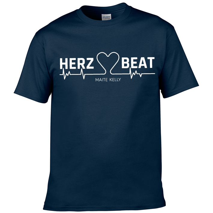 Maite Kelly Herz Beat Herren T-Shirt, navy-blau