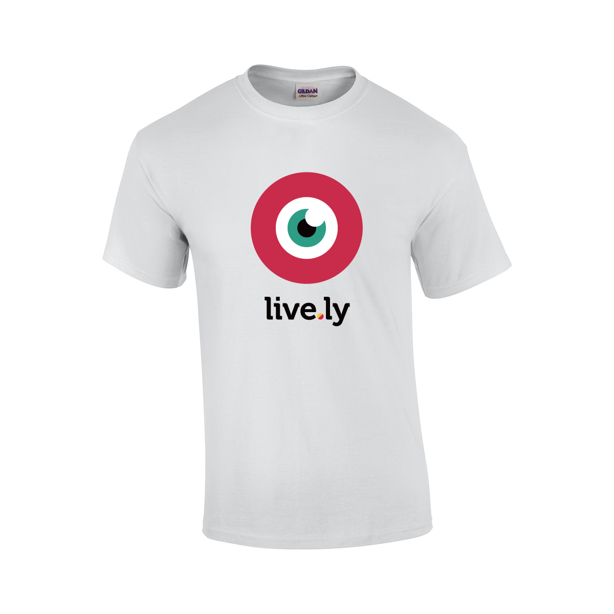 musically PRE-ORDER live.ly eye shirt T-Shirt weiß