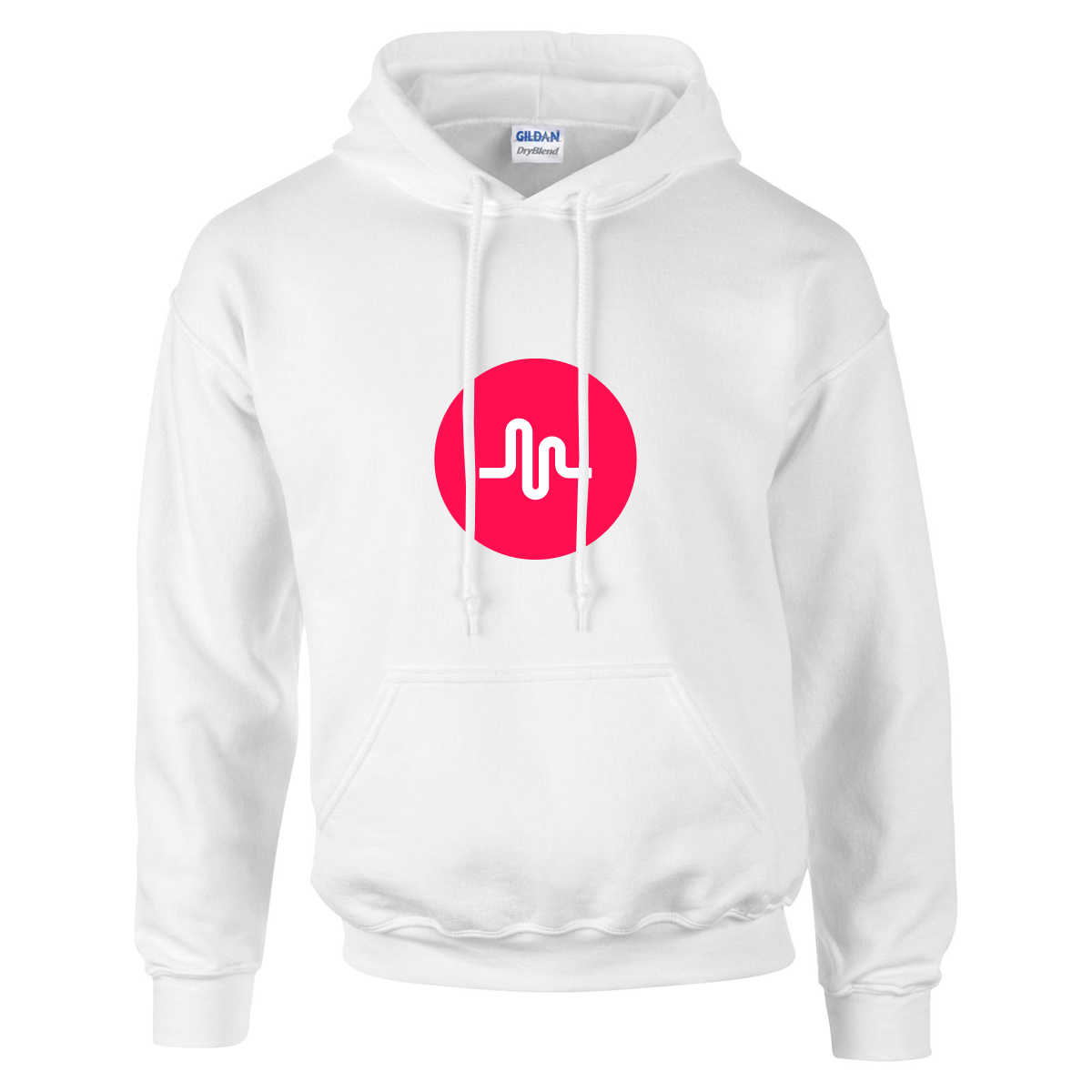 musically PRE-ORDER musical.ly logo hoodie Hoodie white