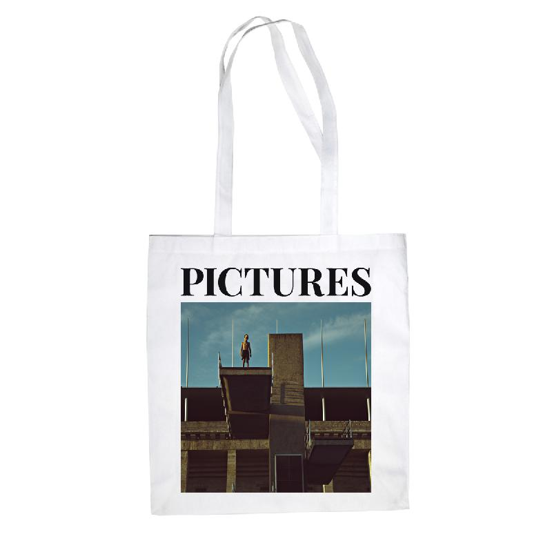 Pictures Tote Bag Cover Cotton Bag, White