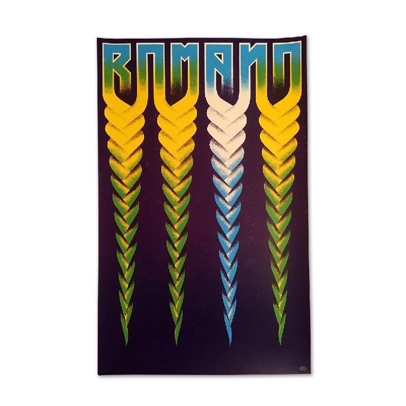 Romano Siebdruck Poster Blau Poster