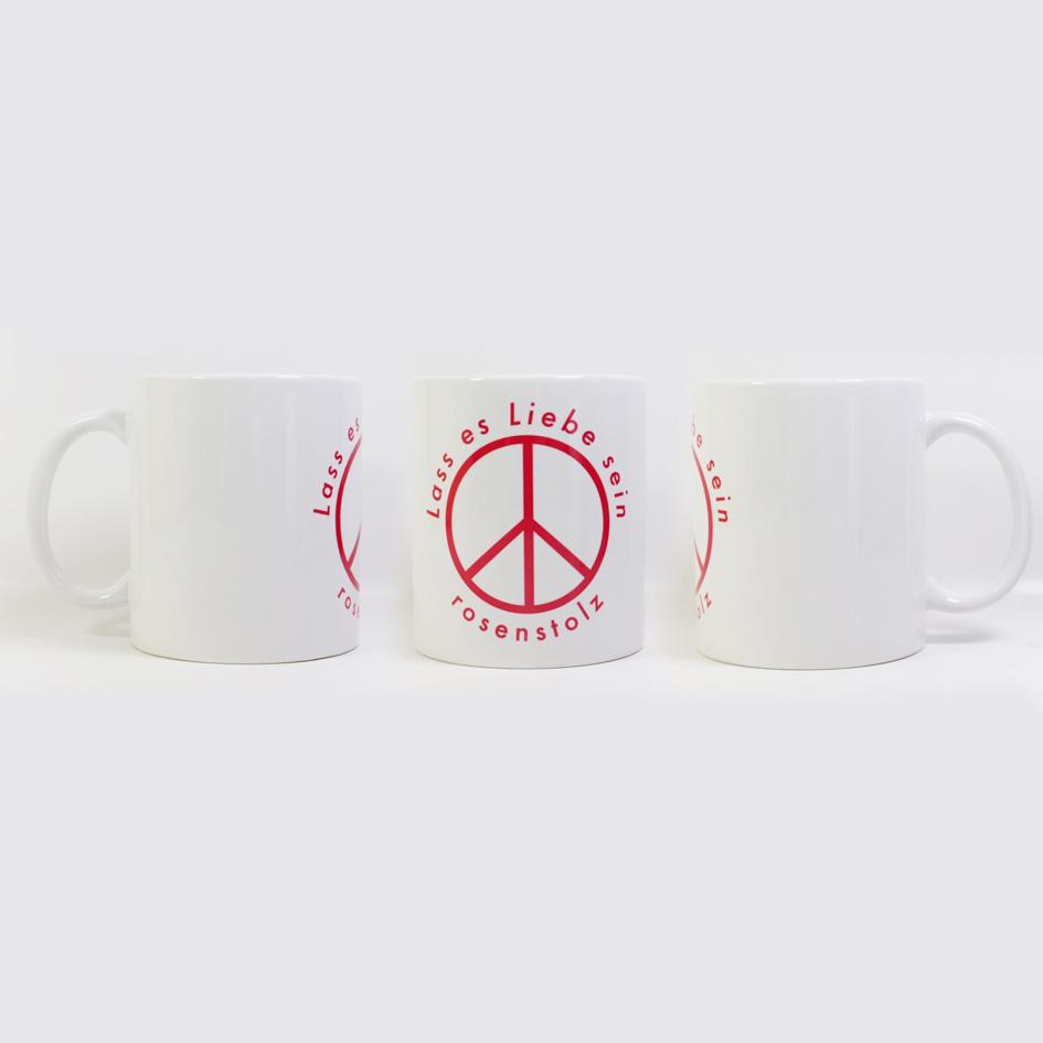 Rosenstolz Lass es Liebe sein Tasse Cup, weiß