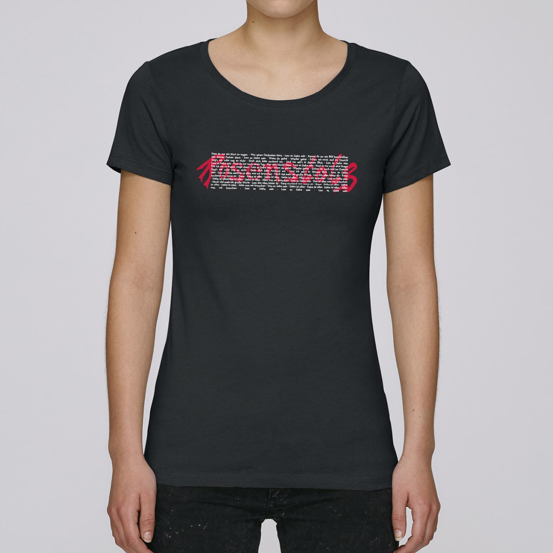 Rosenstolz Retro Shirt Damen Girlie, schwarz