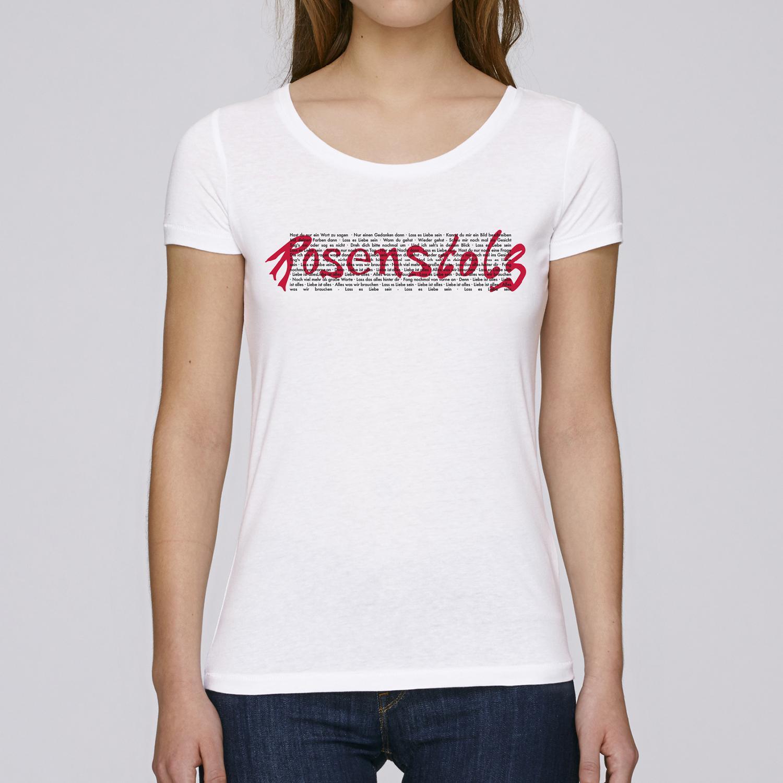 Rosenstolz Retro Shirt Damen Girlie, weiß