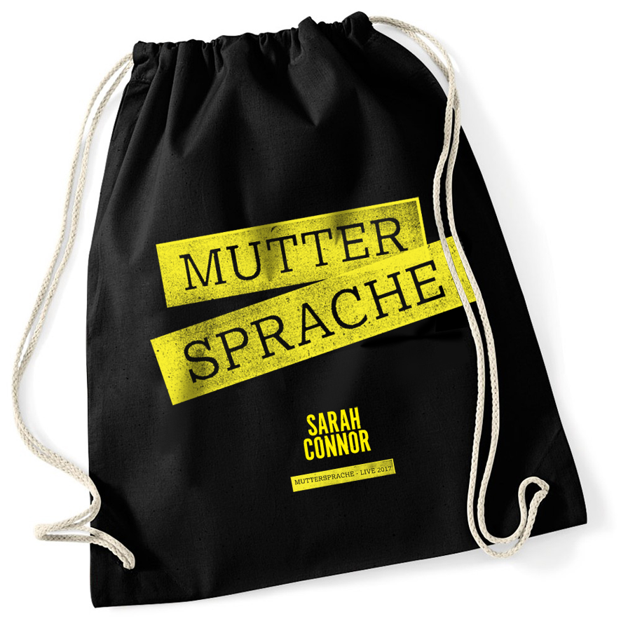 Sarah Connor Muttersprache Live 2017 Turnbeutel Bag schwarz