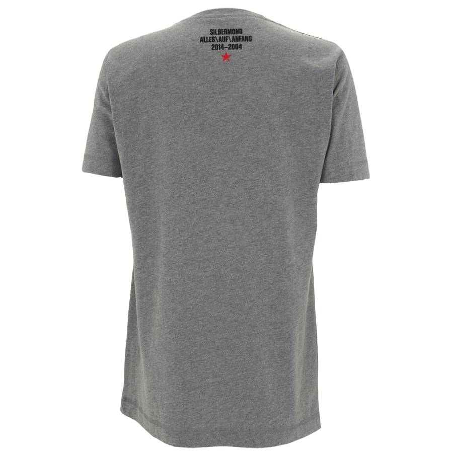 Silbermond Rewind Button unisex T-Shirt graumeliert