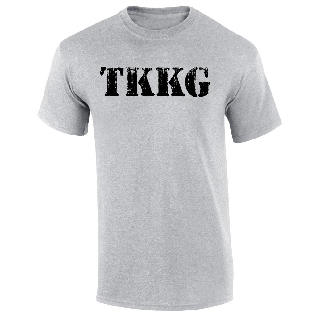 TKKG TKKG Logo-Shirt Version schwarz unisex T-Shirt, grau meliert