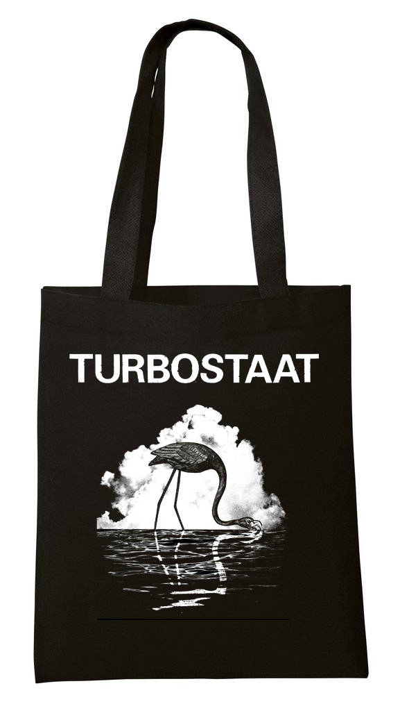 Turbostaat Schwan-Flamingo-Beutel Bag, schwarz