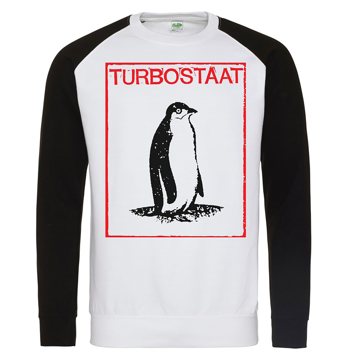 Turbostaat Pinguin Sweater, schwarzweiss