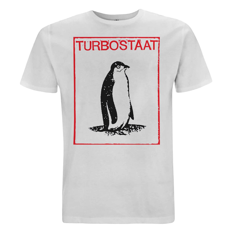 Turbostaat Pinguin Herren T-Shirt, weiß