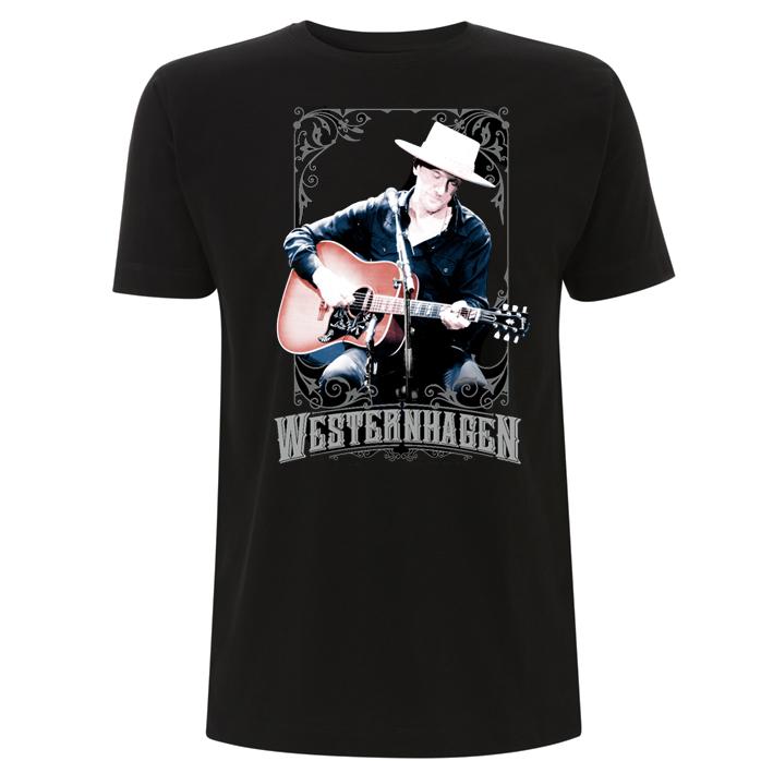 Westernhagen Foto T-Shirt Herren Shirt, schwarz