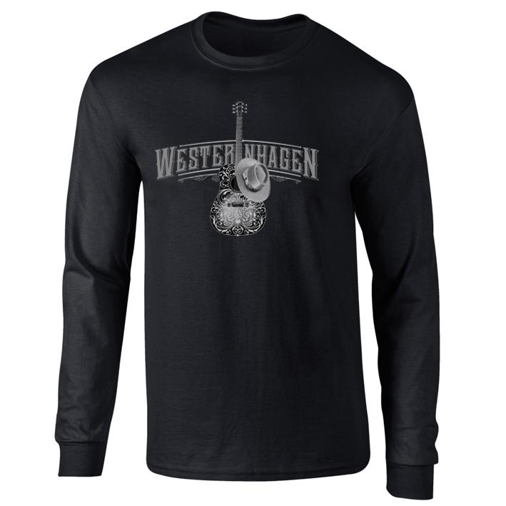 Westernhagen Guitar Longsleeve Longsleeve, schwarz