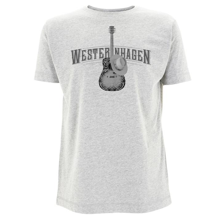 Westernhagen T-Shirt Gitarre Herren Shirt, grau meliert