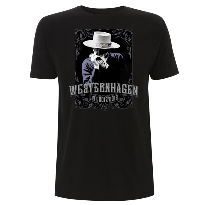 Westernhagen Tour T-Shirt Herren Shirt, black
