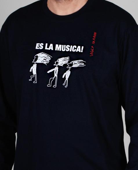 Wolf Maahn Es La Musica Longsleeve dark blue