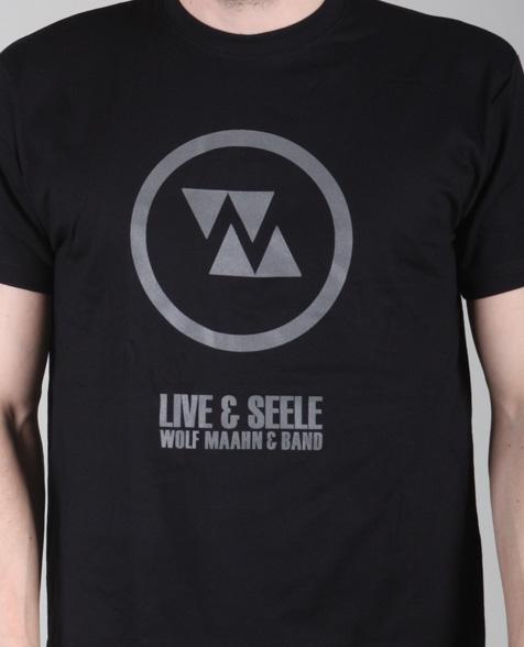 Wolf Maahn Live & Seele T-Shirt black