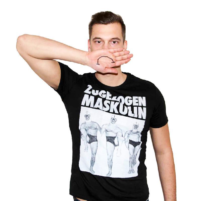 Zugezogen Maskulin ZM Wrestler T-Shirt, Schwarz