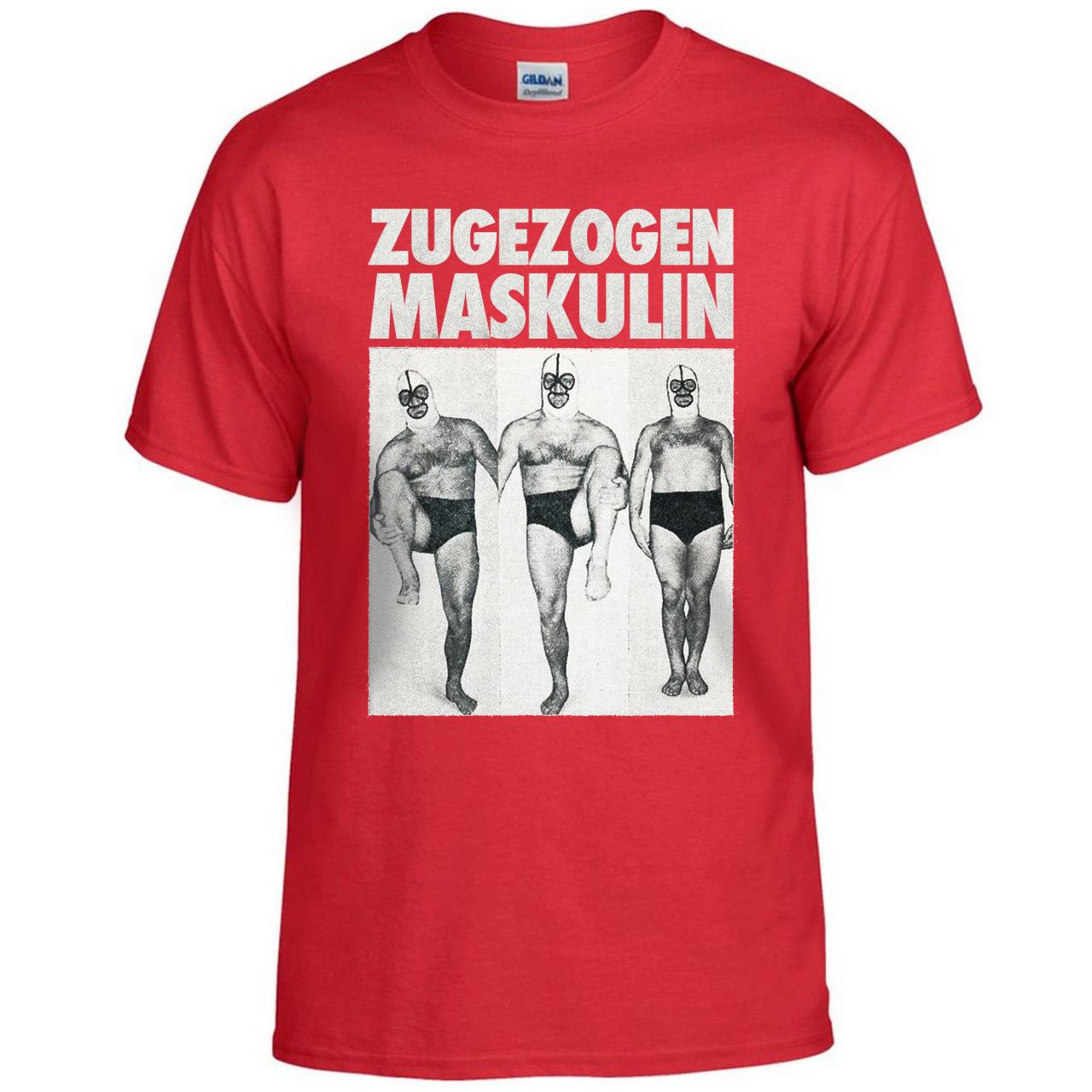 Zugezogen Maskulin ZM Aggro Wrestler T-Shirt Red